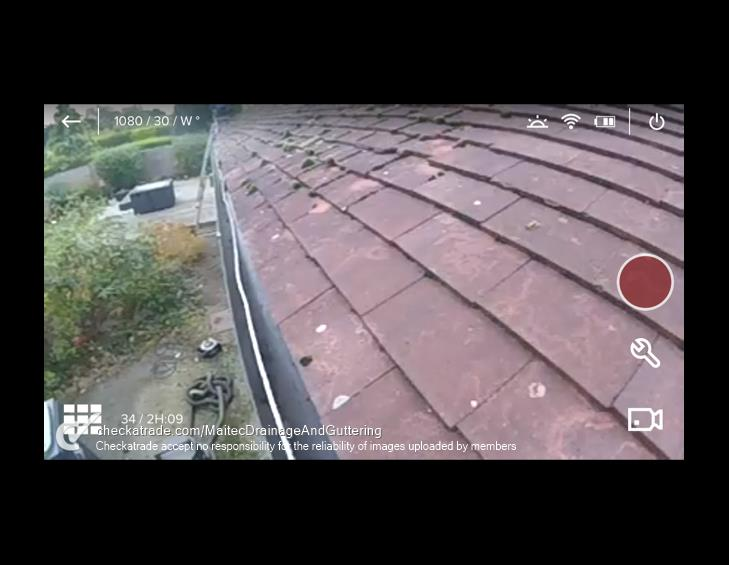 gutter cleaning camera after